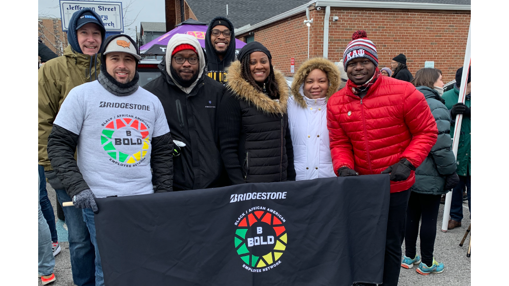 Bridgestone Americas BBOLD members and families attend MLK day march
