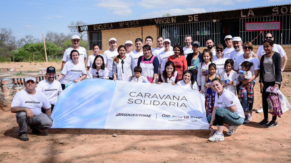 Bridgestone employees in Argentina complete 10th annual social caravan