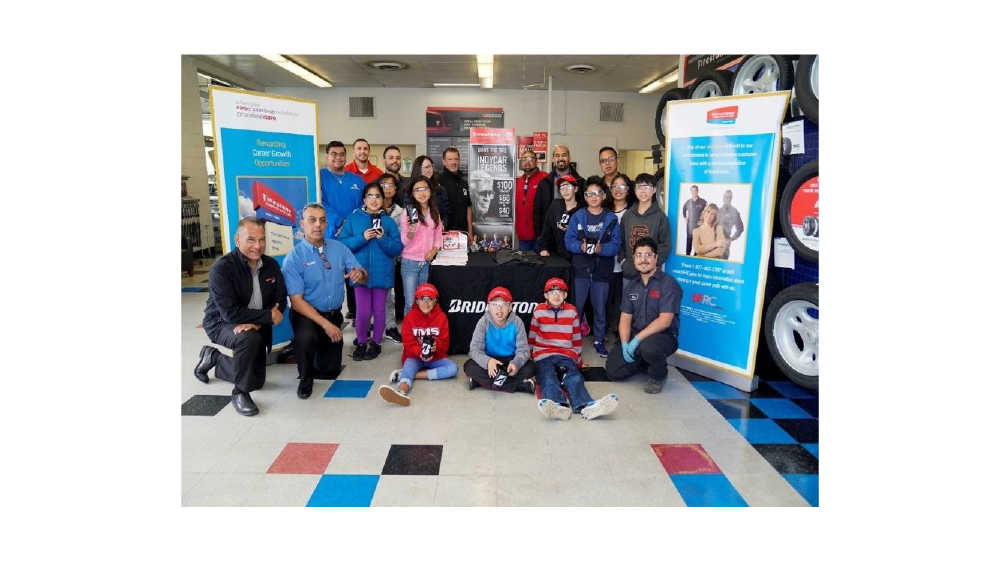 Bridgestone Americas retail operations teaches children about the importance of tire safety during national tire safety week 2019