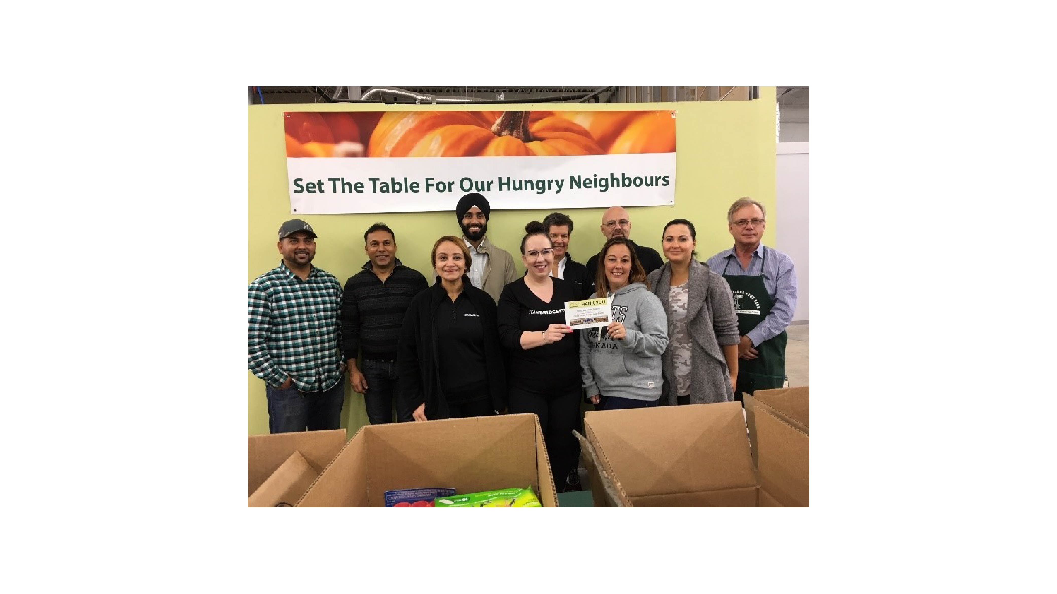 bridgestone Canada Mississauga Food Bank