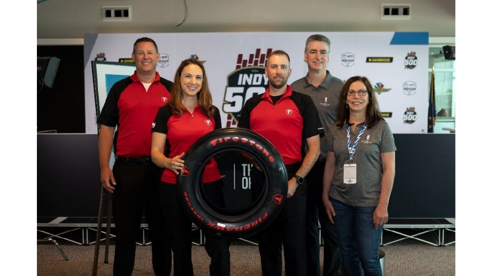 Firestone race tire engineers in indianapolis