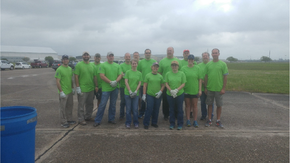 Firestone Polymers Teammates volunteering