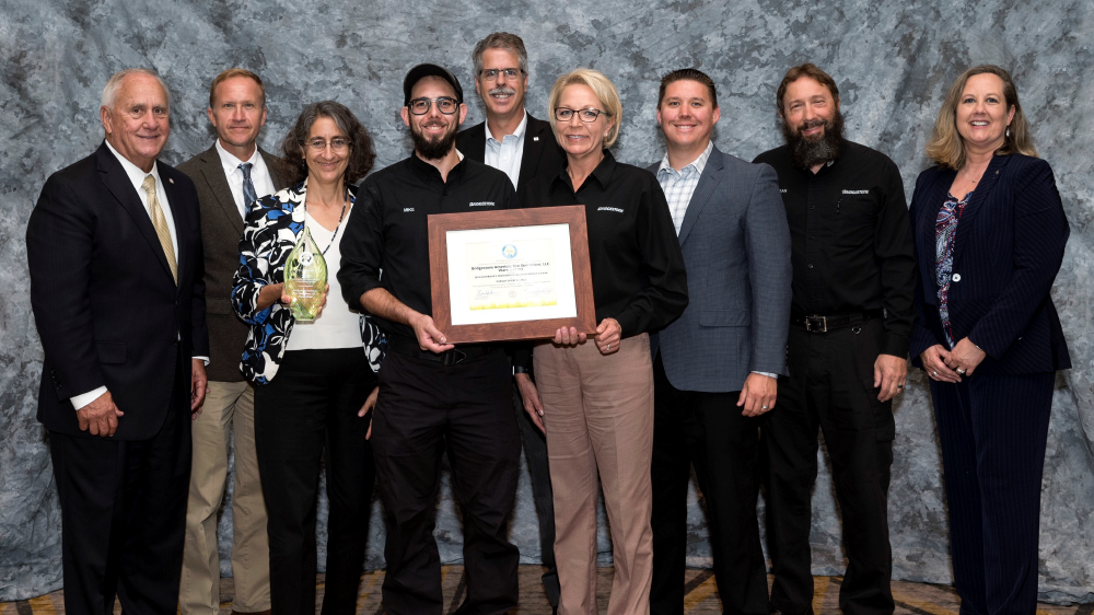 Bridestone Warren county plant 2018 governor's environmental stewardship award winner