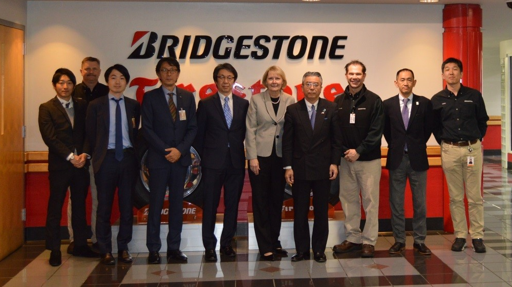 Bridgestone Warren County manufacturing facility japanese ambassador