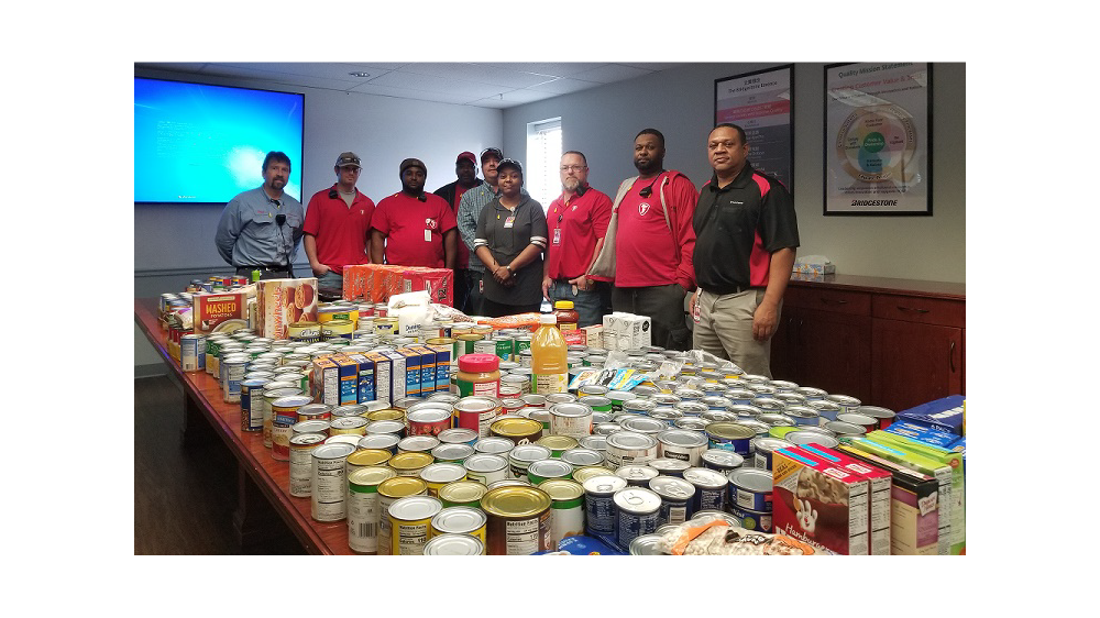 Firestone Building Products Plant in Muscle Shoals, Alabama food drive