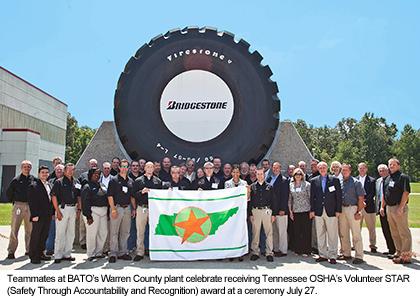 Americas Best Tire >> Bridgestone Americas Tire Operations Warren County Plant Receives TOSHA's Highest Honor Fourth ...
