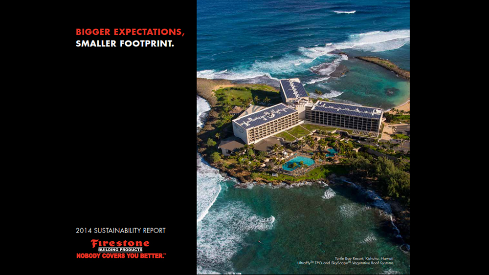 Firestone Building Products Releases 2014 Sustainability Report