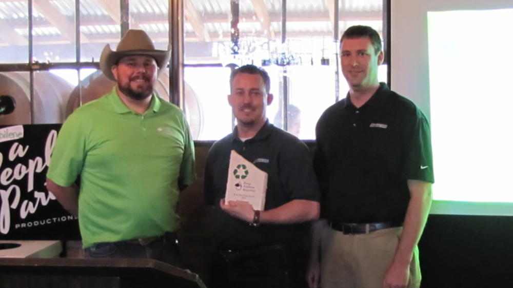 Bridgestone Abilene, TX teammates receive environmental award