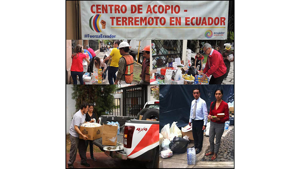 Bridgestone teammates collect supplies for Ecuador's earthquake victims