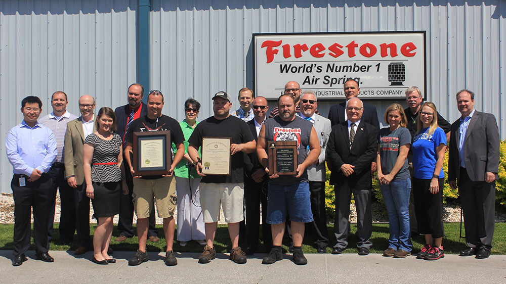 Firestone Industrial Products recognized for health and safety