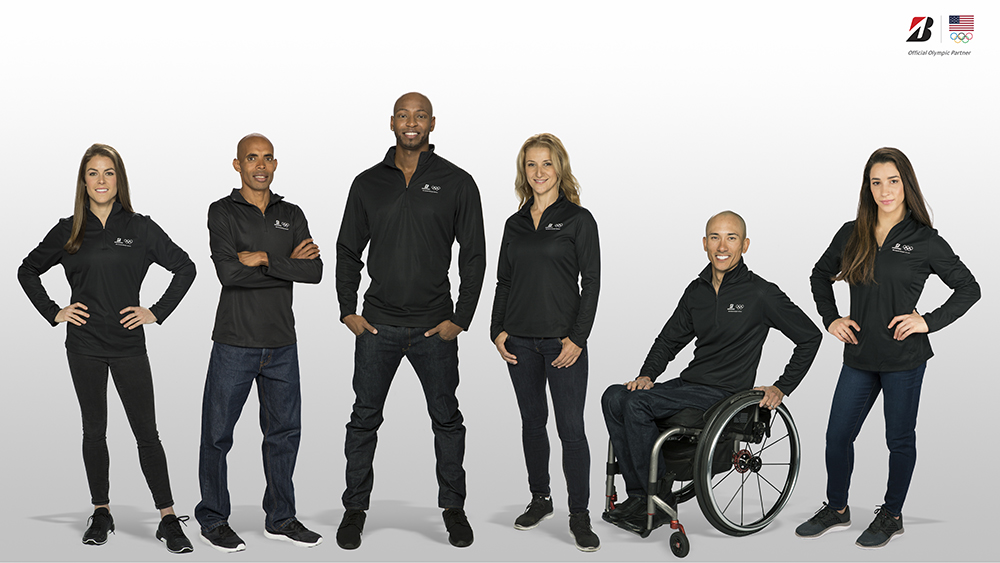 """Team Bridgestone"" for the Rio 2016 Olympic Games"
