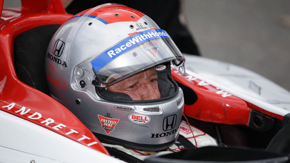 Mario Andretti at Firestone media event