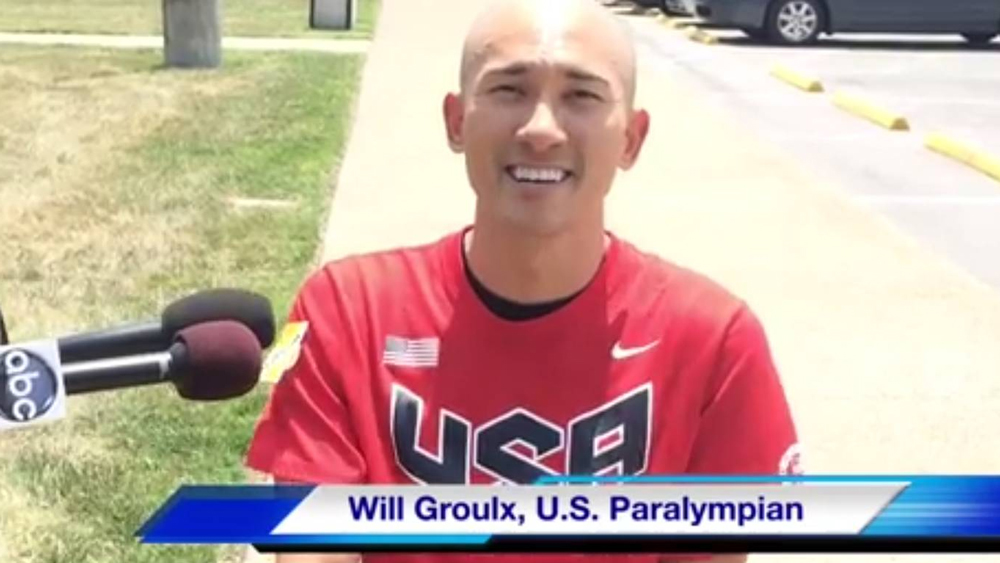 Gold medal winning Paralympian Will Groulx