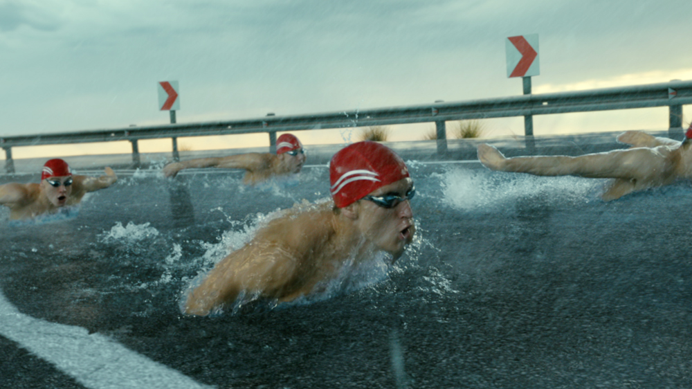Bridgestone's Built to Perform commercial featuring Olympic swimmers