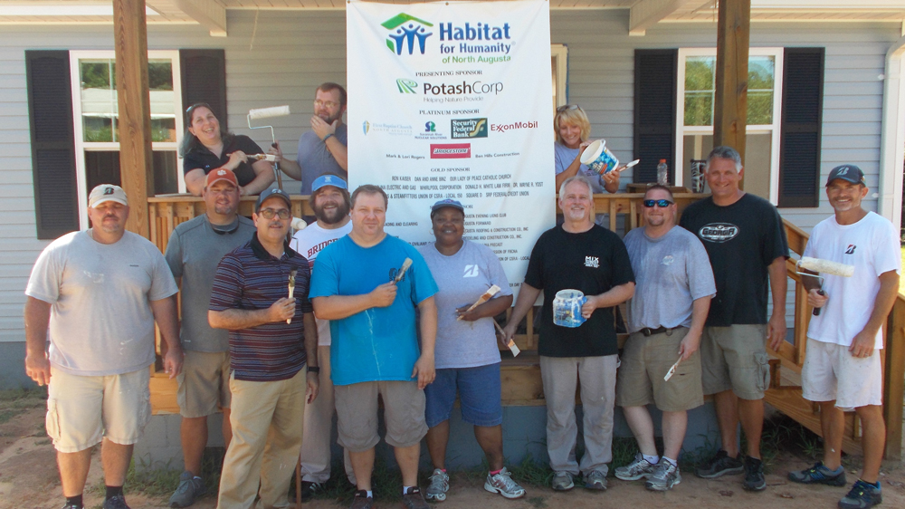 Bridgestone teammates volunteer with Habitat for Humanity