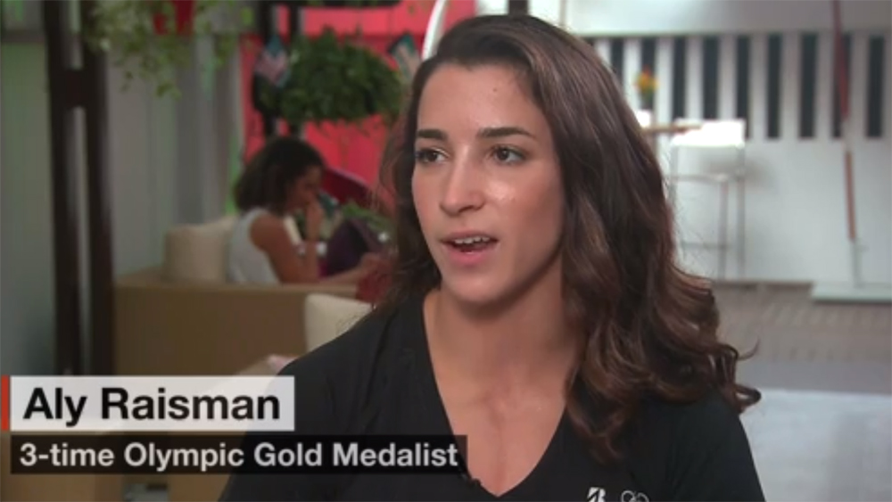 Olympic Gymnast and Team Bridgestone Athlete Aly Raisman Talks to CNN