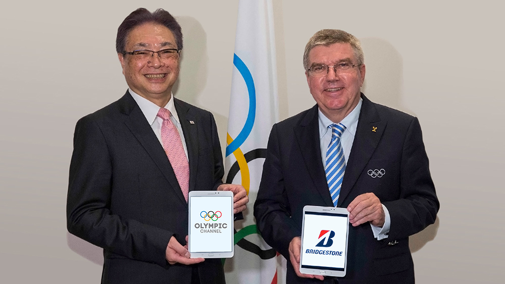 Bridgestone announces founding partnership for Olympic Channel