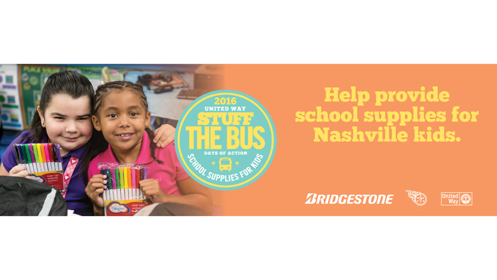 Bridgestone sponsors United Way Stuff the Bus