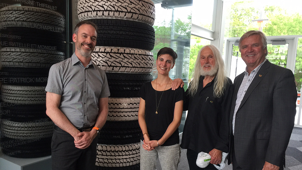 Bridgestone Canada plant in Joliette, Quebec donates tires for local art museum sculptures