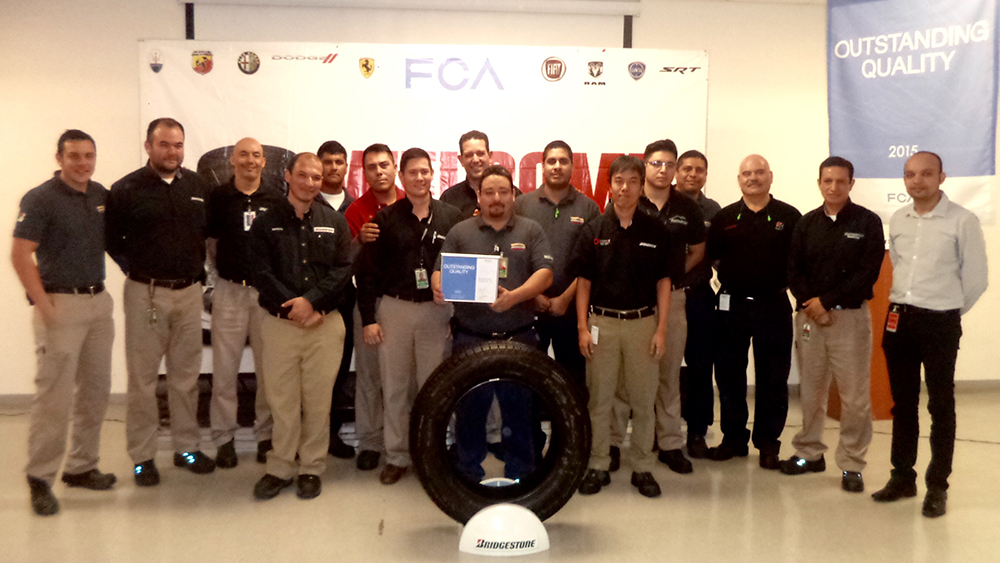 Brigestone's Manufacturing Facility In Monterrey Receives 'Outstanding Quality Award' By Fiat Chrysler