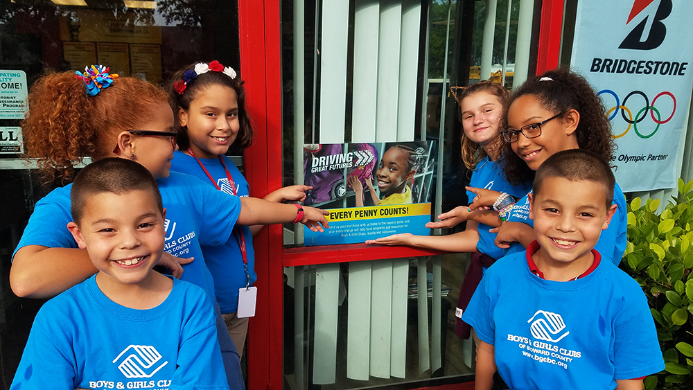 Bridgestone Retail Operations gives to Boys and Girls Club of America (BGCA)
