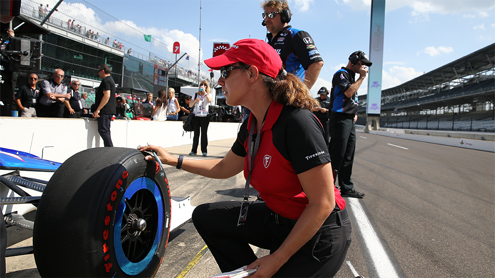 Cara Adams, chief engineer of Bridgestone Americas Motorsports