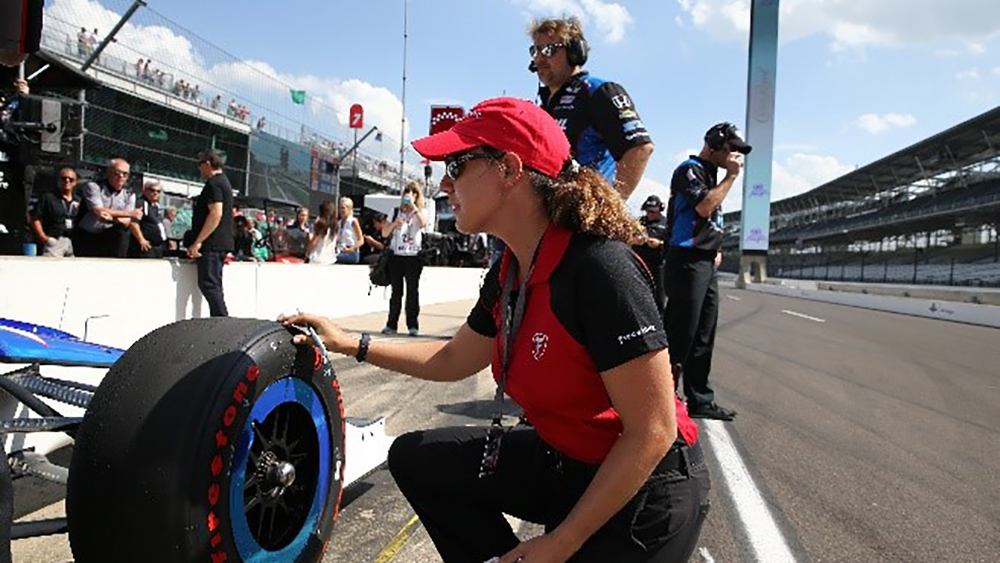 Cara Adams, Chief Engineer for Bridgestone Americas Motorsports and Firestone Racing
