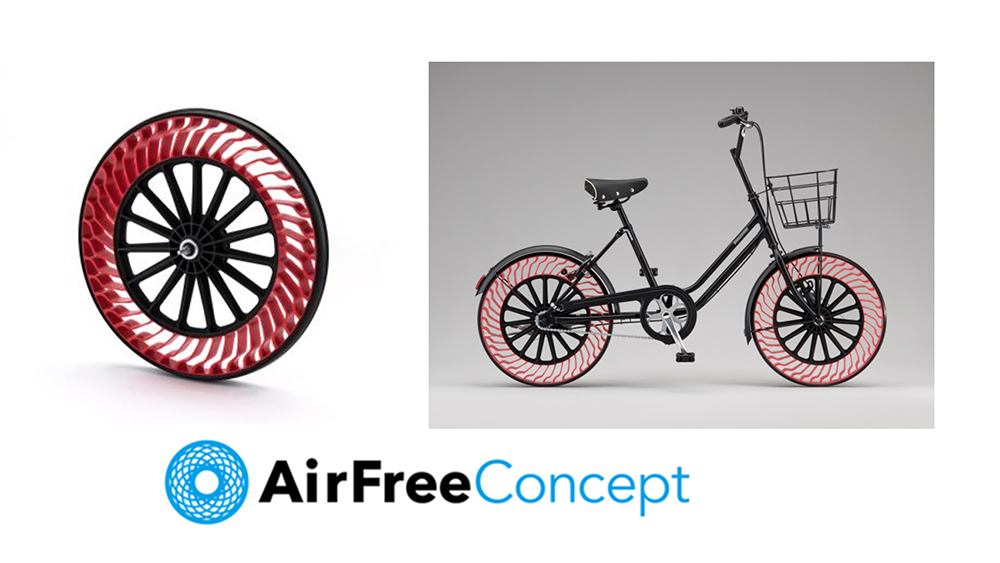 Bridgestone air-free bicycle tires