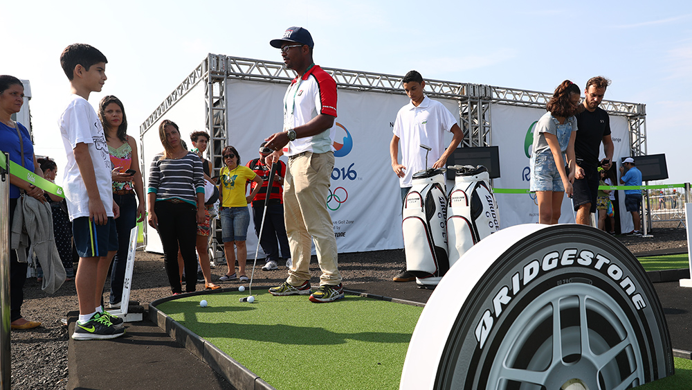 Bridgestone Fan Zone at Olympic Golf Course