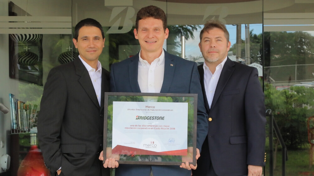 Bridgestone Costa Rica Ranked #1 in Corporate Reputation