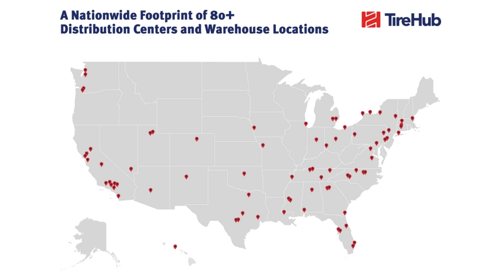 TireHub to create a nationwide footprint of 80+ distribution centers and warehouse locations