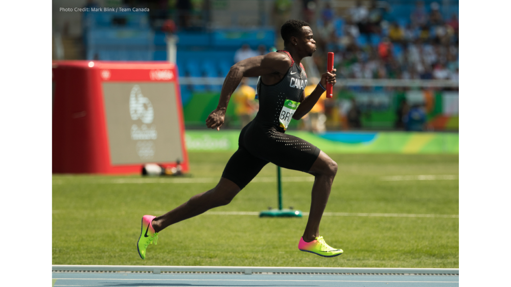 Canadian Track star Aaron Brown