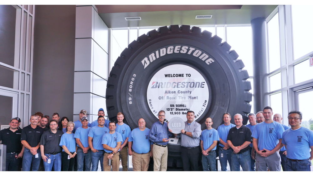 Bridgestone aiken plant teammates with LEED certification