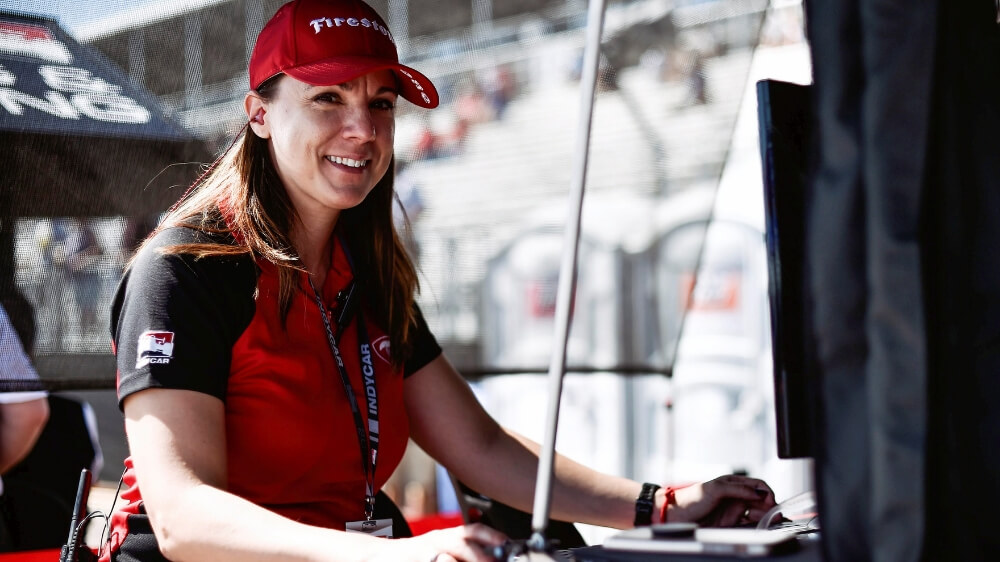 Cara Adams, director, race tire engineering & production, Bridgestone Americas Tire Operations (BATO) and Firestone Racing
