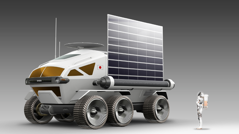 Bridgestone Americas tires on rover by Toyota and JAXA
