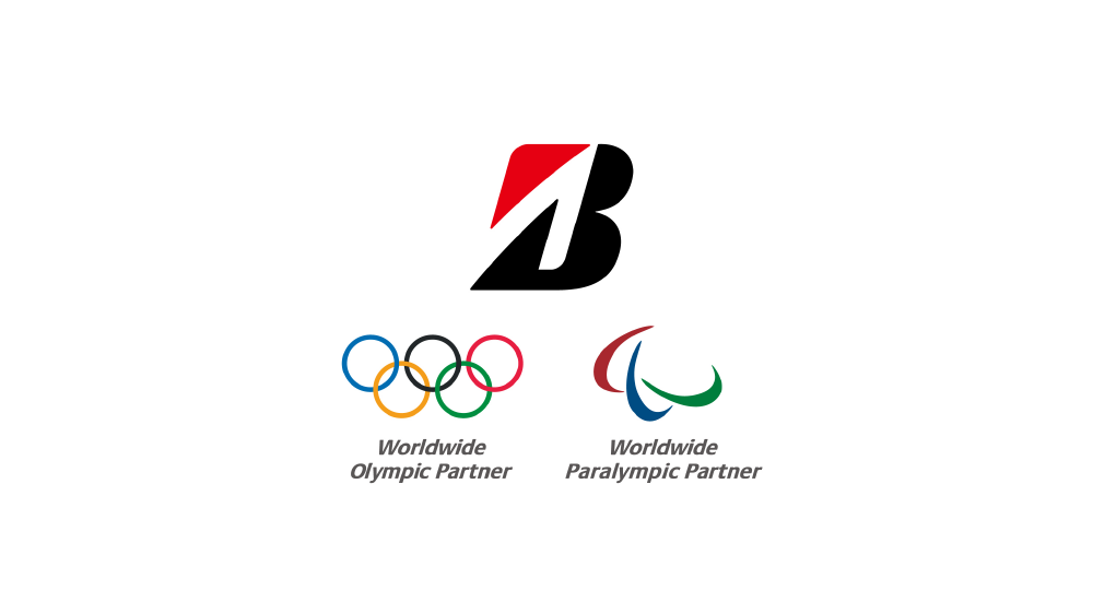 Bridgestone Americas logo with Olympic and paralympic logos