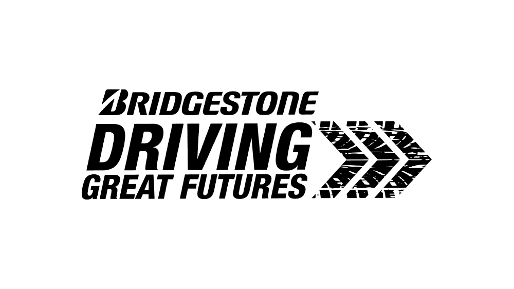 Bridgestone driving great futures logo