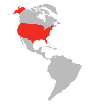 Map of United States Highlighted