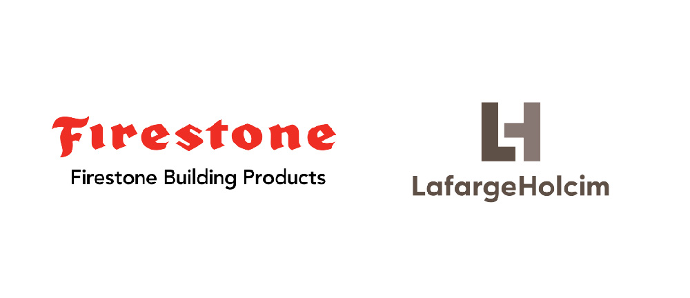 Firestone Building Products and LafargeHolcim  logos